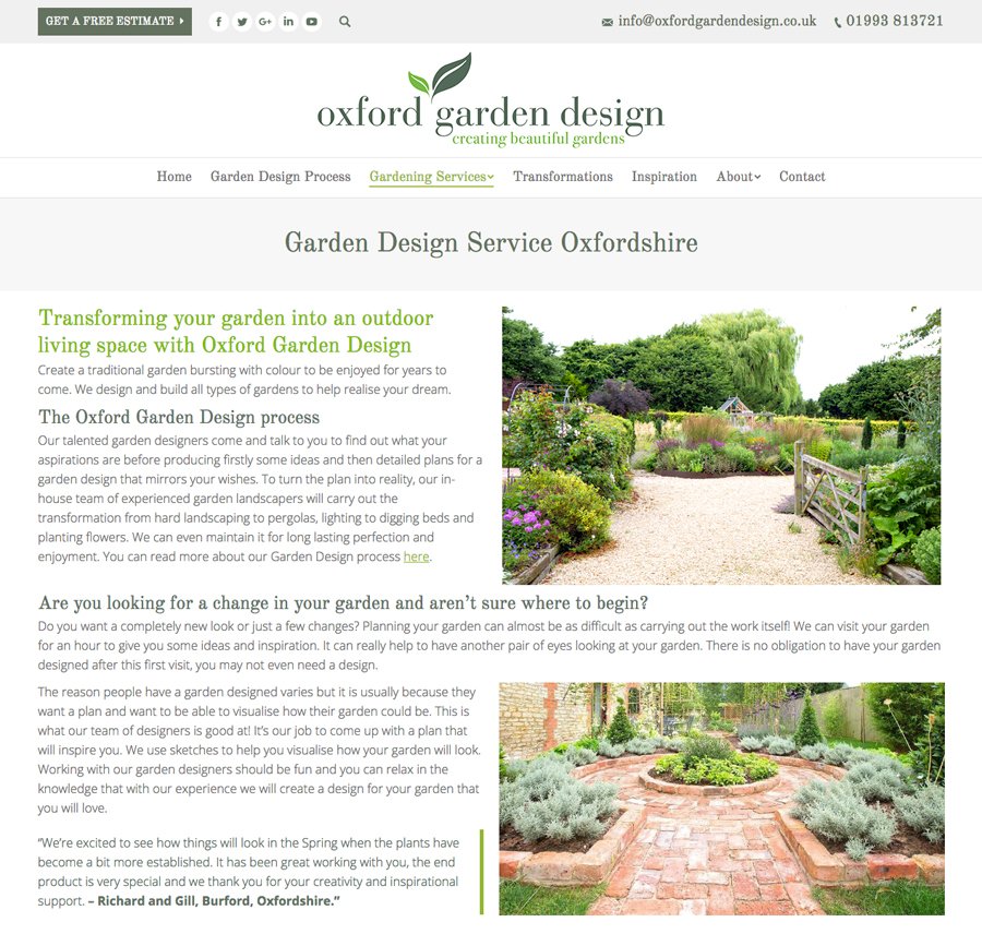Website design Oxford, Clear & Creative, Oxford